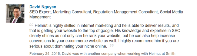 david internet marketing results