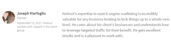 joe expertise in search engine marketing