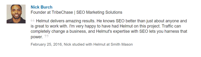 nick helmut delivers amaing results