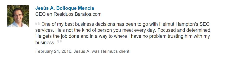 SEO client recommendation