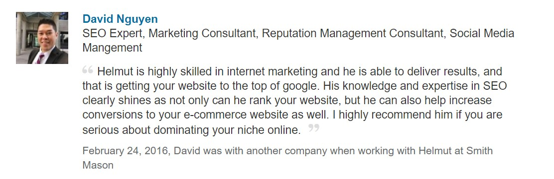 westchase recommendations for seo