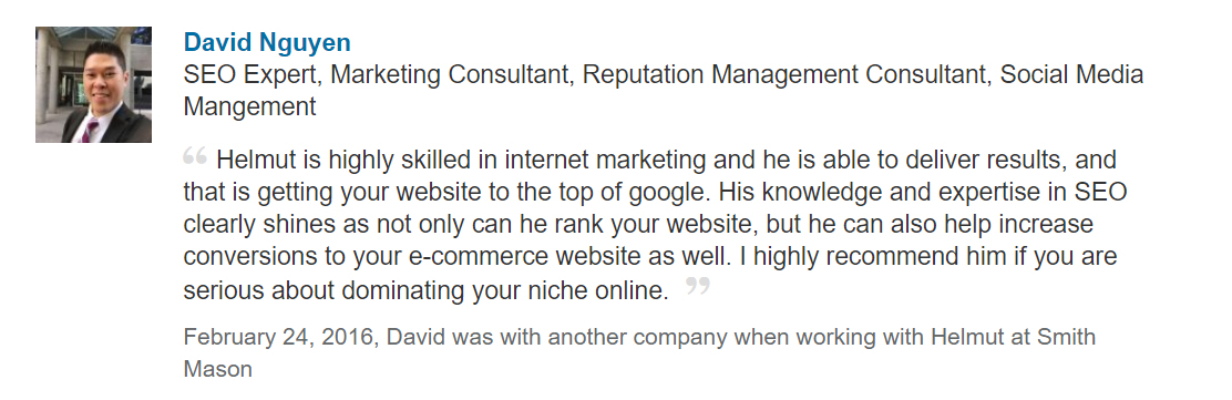 LinkedIn SEO Recommendation