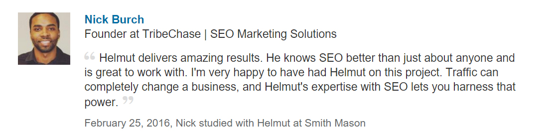 Search Engine Marketing Testimonial