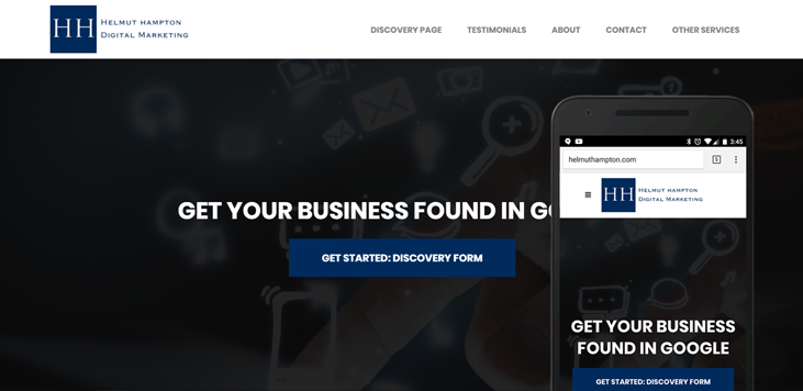 helmut hampton website design