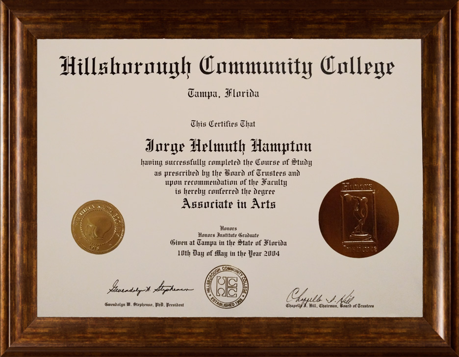 HCC Business Administration Diploma with Honors College and Phi Theta Kappa